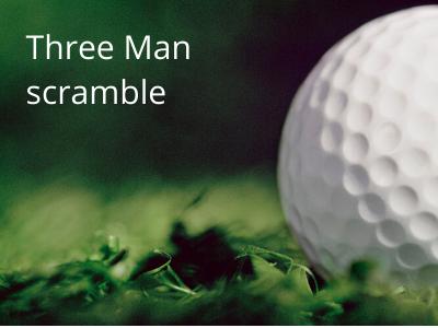 Three man scramble
